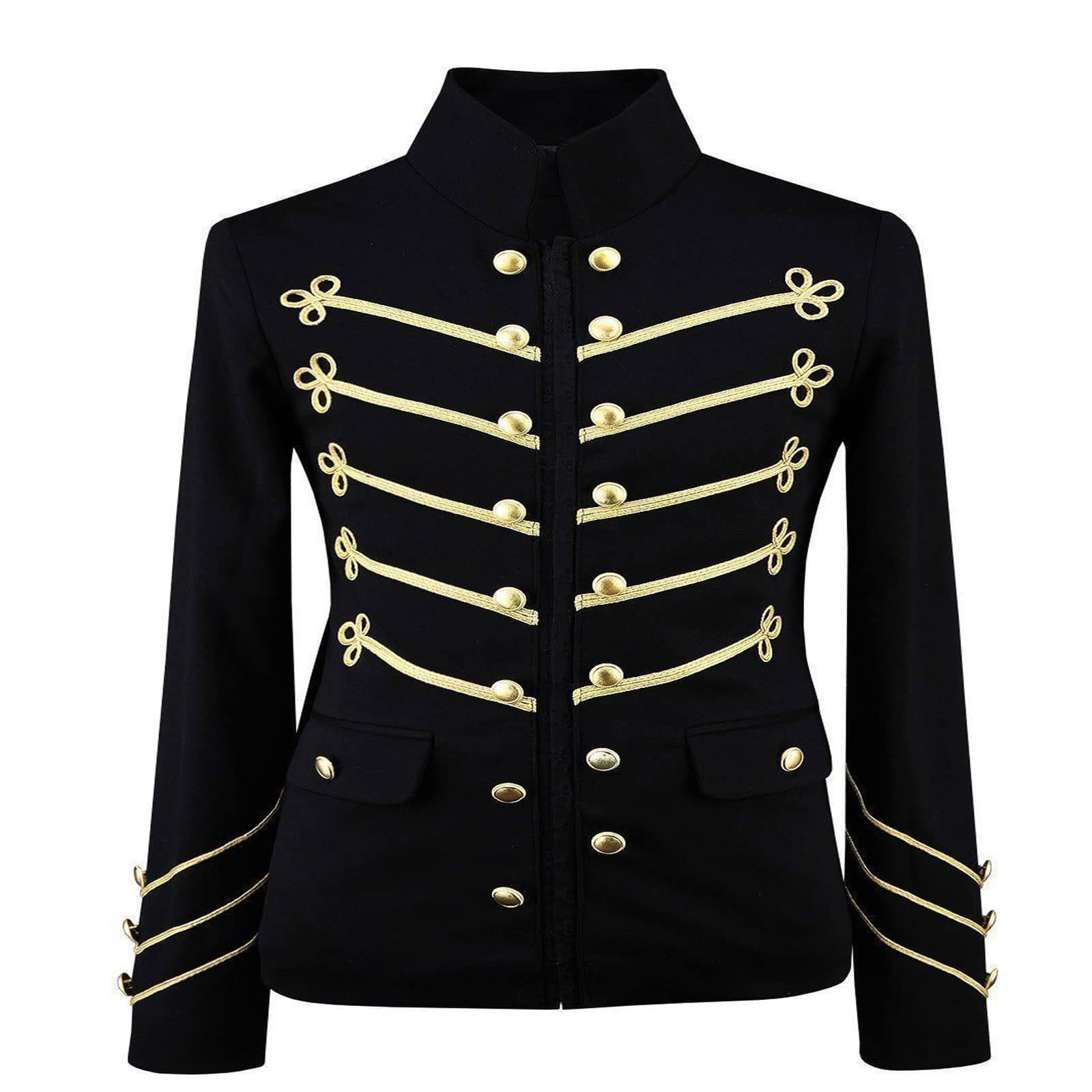 black military jacket with gold embroidery made to measure kilt