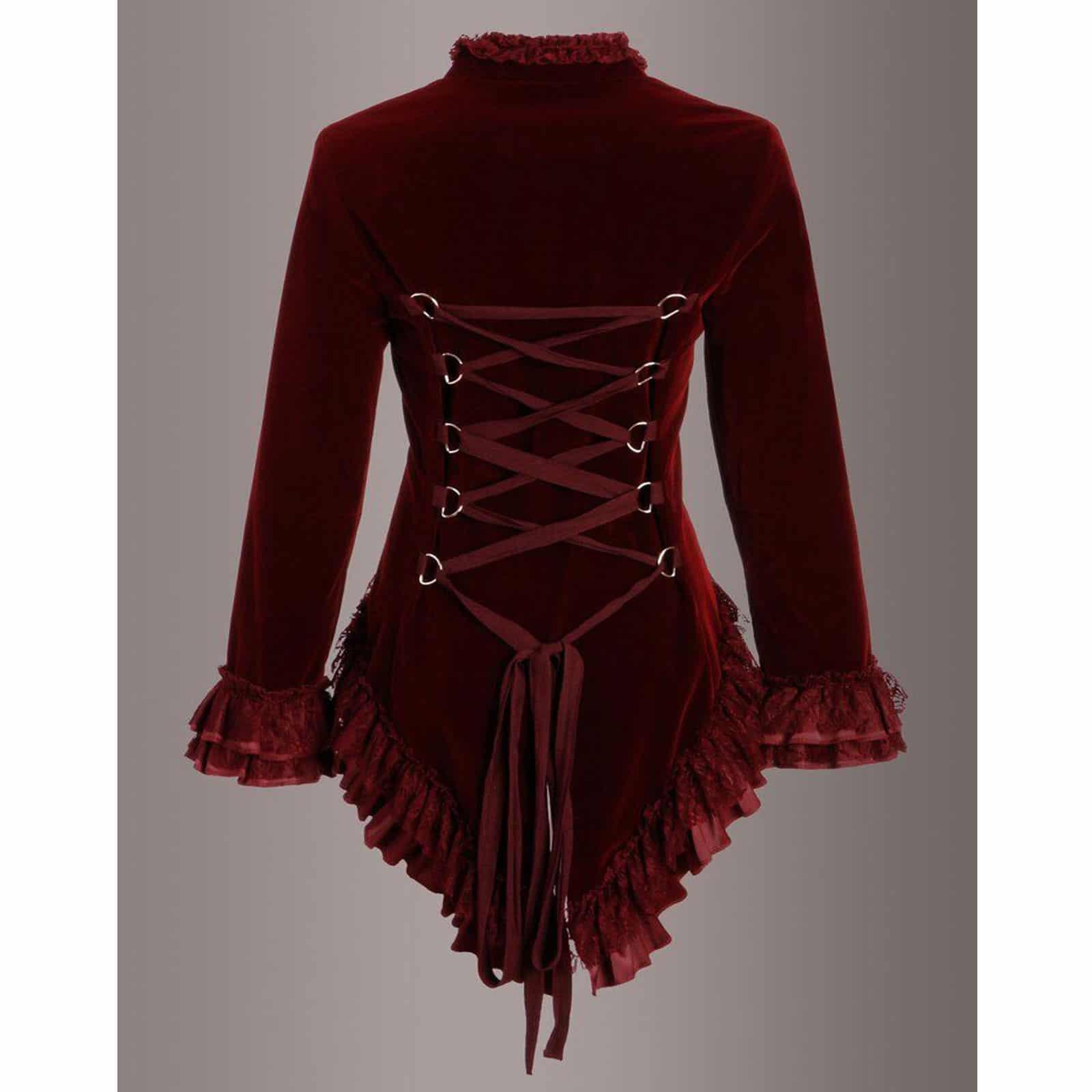 Black Velvet Victorian Corset For Goths Steampunks Kilt