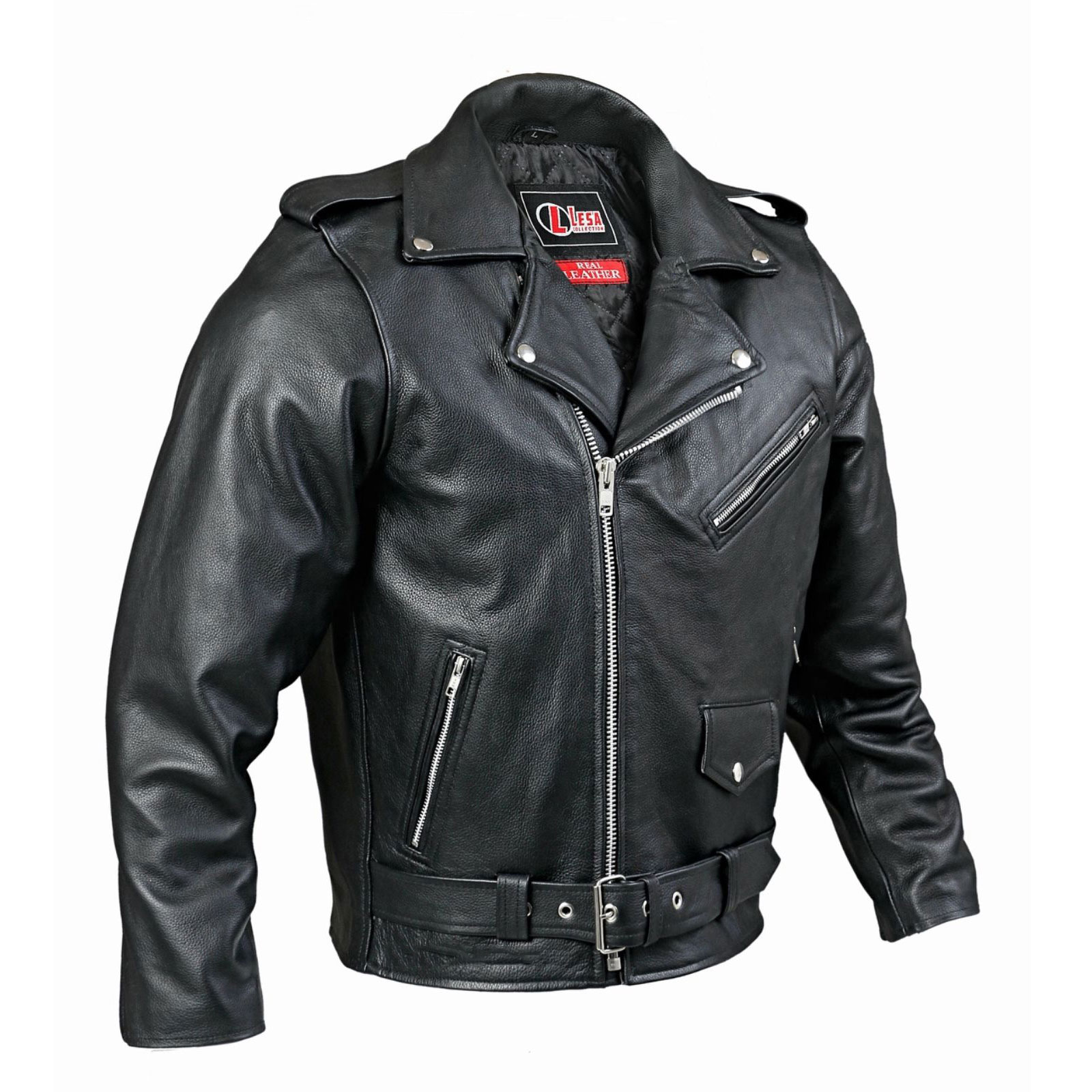 vintage motorcycle leather jacket custom made kilt and