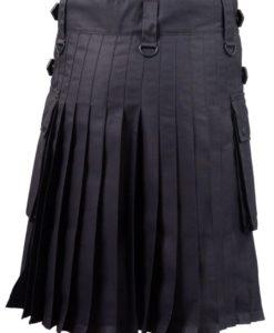 Black Deluxe Utility Kilt, Best Kilt for Men, Fashion Kilts