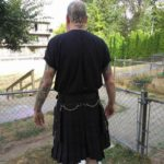 Black Deluxe Utility Fashion Kilt With Chrome Chainback