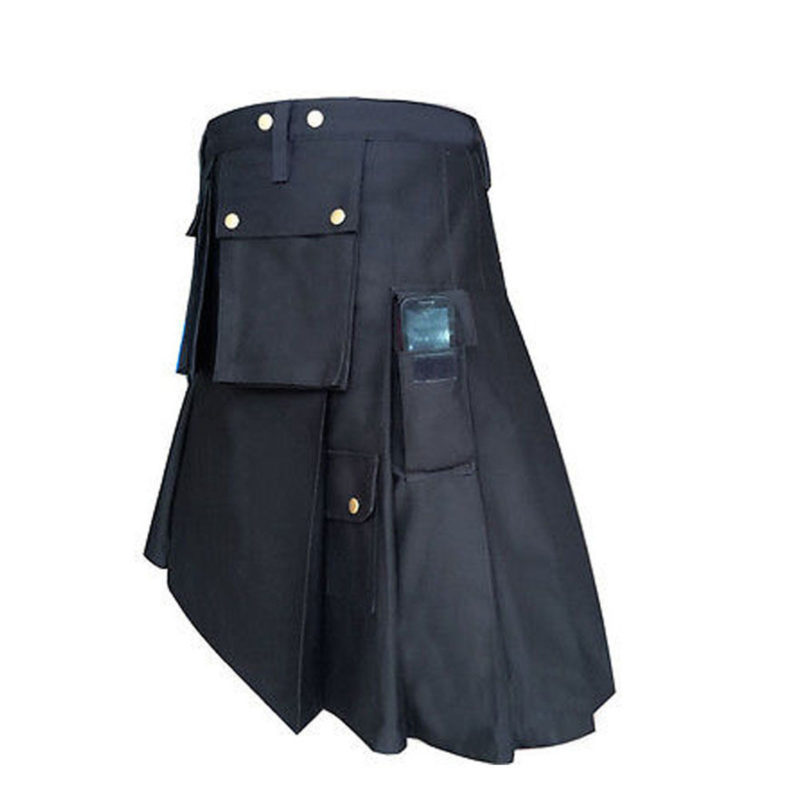 Police kilts, Utility kilts, best Kilts, Kilts for Men, utility kilt, black kilt, black kilt for sale