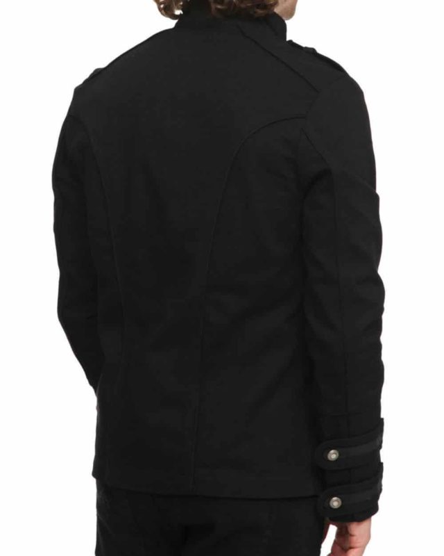 Black Military Jacket Goth Steampunk Vintage Pea Coat, Gothic Clothing, Goth Jackets, Jackets for Men, Seampunk jacket for sale, buy steampunk jacket, gothic jacket for sale, buy gothic jacket, goth jacket for sale, buy goth jacket, military jackets for men, military jackets for sale, buy military jackets