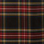 Black Stewart Tartan Kilt Cloth