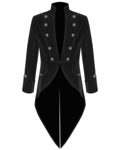 Tail coat Jacket Black Velvet Goth Steampunk Victorian, Gothic Clothing, Velvet Jackets, Best Jackets for Men