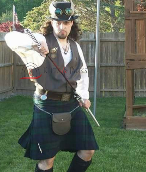 Blackwatch Tartan Prime Kilts, Scottish Tartans, Traditional Kilts, Best Kilts for Men