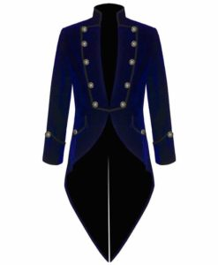Tail coat Jacket Blue Velvet Goth Steampunk Victorian, Gothic Clothing, Velvet Jackets, Best Jackets for Men