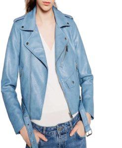 brando leather jacket, leather jacket in blue, blue leather jacket