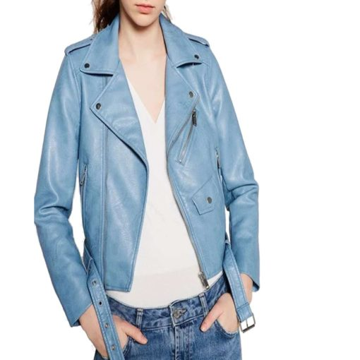 brando leather jacket, leather jacket in blue, blue leather jacket