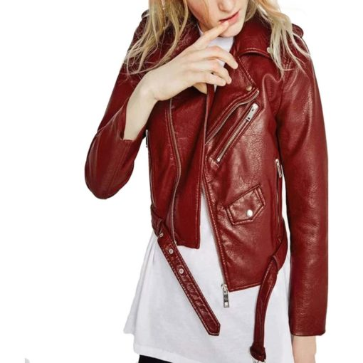 brando leather jacket, leather jacket, red leather jacket, leather jacket for girl