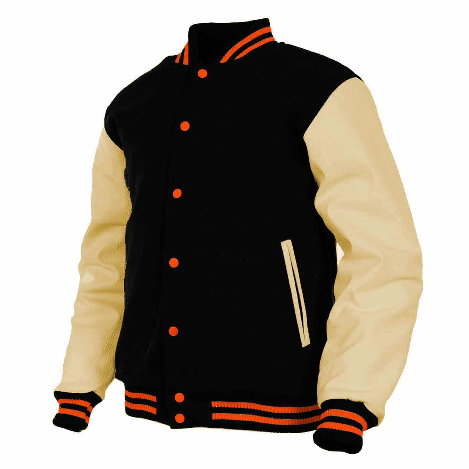 d4079ddcb Wool & Leather Letterman Varsity Jacket