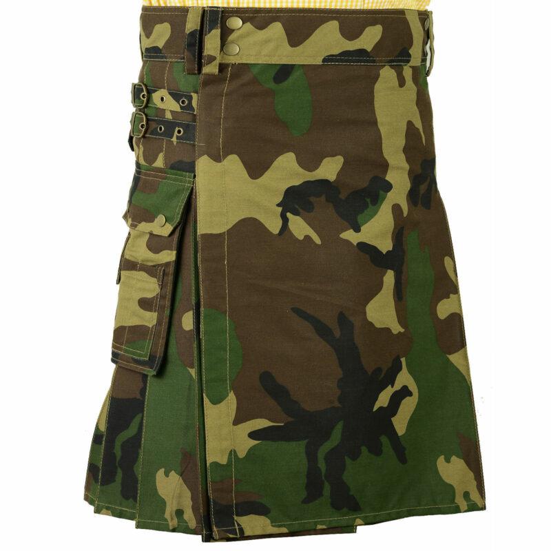 Camo kilt, Deluxe kilt, Kilt for Men, Mens Kilt, camoufalge kilt, army kilt, camo utility kilt