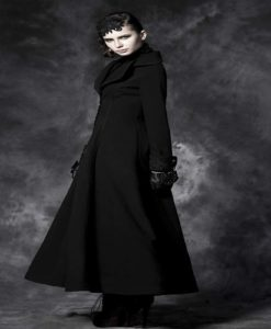 Black New Long Elegant Women Coat, Vintage cosplay Victorian Aristo, Traditional Jackets, best Jackets