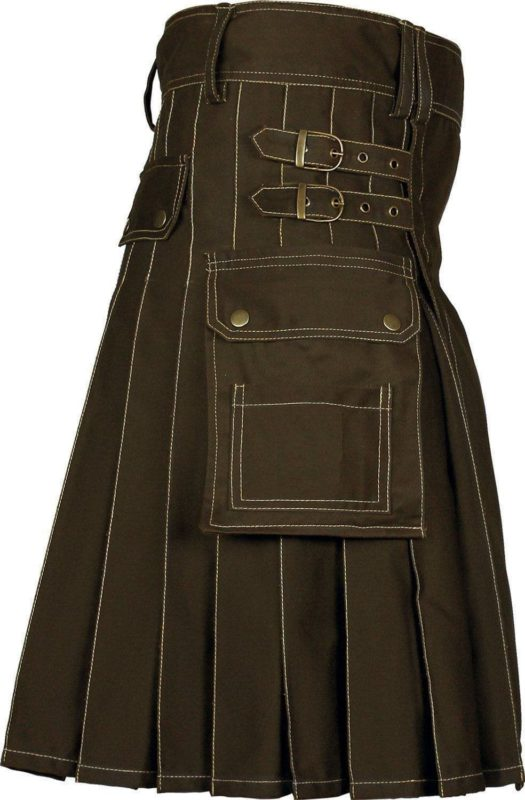 utility kilt, brown kilt, brown utility kilt, brown kilt for sale, brown utility kilt for sale, brown utility kilt sale, kilt for sale