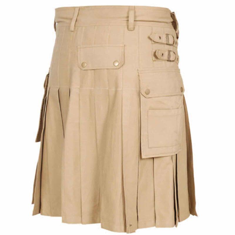 Beige Utility Kilt. khaki kilt, Beige kilt, Beige color kilt, utility kilt, kilt for men, kilt for sale