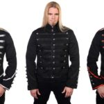 Men-Black-Banned-Military-Drummer-Parade-Jacket-Goth-Punk-Adam-Ant-Style