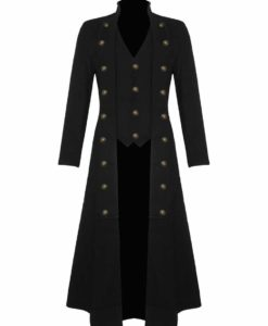 Steampunk Military Trench Coat Long Jacket , Long jackets, Gothic Jackets