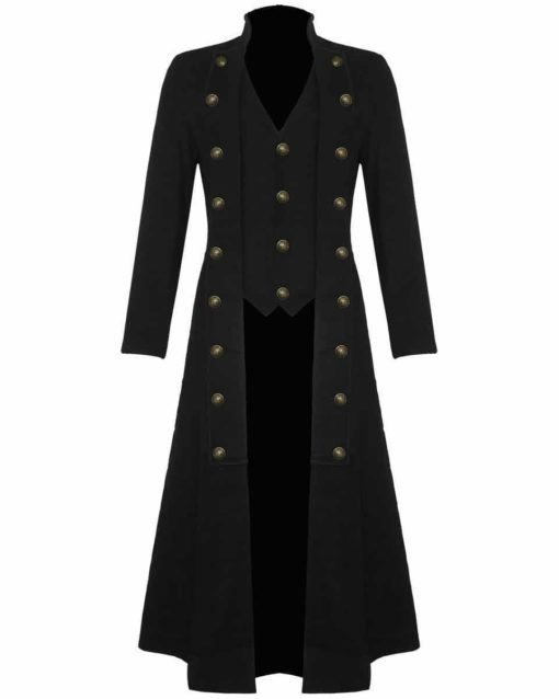 Steampunk Military Trench Coat Long Jacket , Long jackets, Gothic Jackets