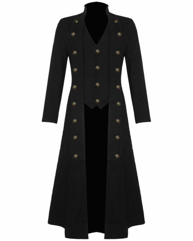 Steampunk Military Trench Coat Long Jacket , Long jackets, Gothic Jackets, Seampunk jacket for sale, buy steampunk jacket, gothic jacket for sale, buy gothic jacket, goth jacket for sale, buy goth jacket, military jackets for men, military jackets for sale, buy military jackets