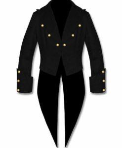 Tailcoat Steampunk Goth Victorian Swallowtail Jacket, Gothic Jackets, Unisex Jackets