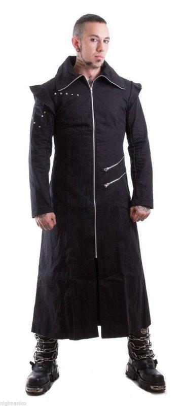 black trench coat goth punk Long Jacket, Gothic Clothing, best clothing, Best Jackets, Seampunk jacket for sale, buy steampunk jacket, gothic jacket for sale, buy gothic jacket, goth jacket for sale, buy goth jacket
