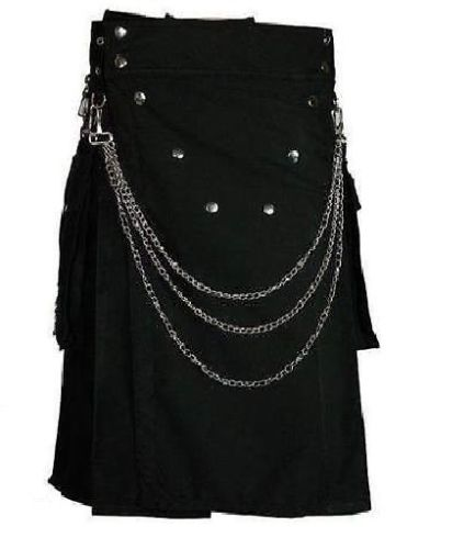 Deluxe Utility Fashion Kilt With Chrome Chain, Kilts, Utility, best kilts, excellent kilts