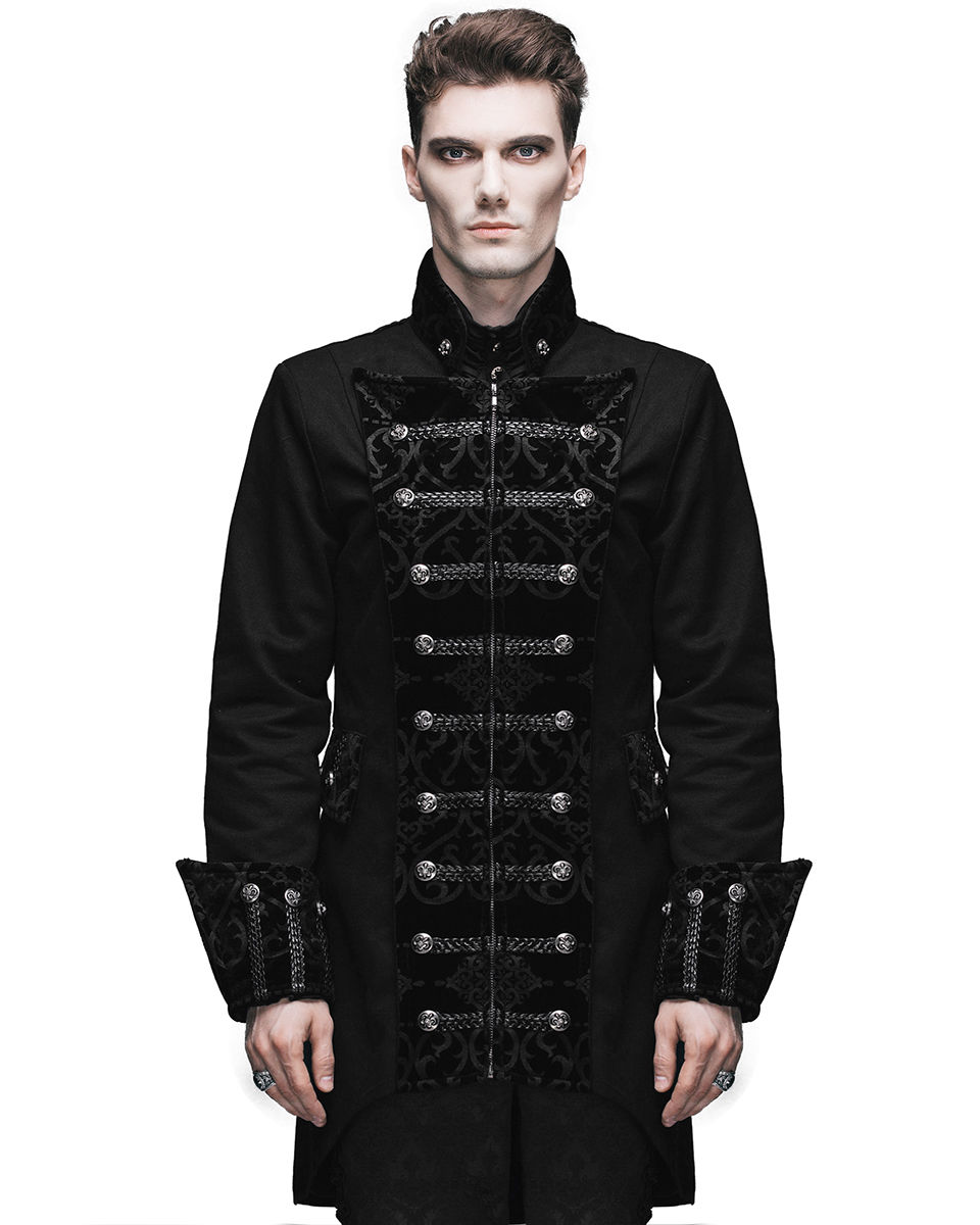 mens jacket gothic frock coat black steampunk aristocrat regency. Black Bedroom Furniture Sets. Home Design Ideas