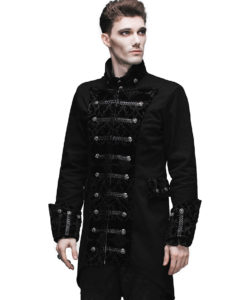 Gothic Frock Coat Black Steampunk Aristocrat Regency, Gothic Jackets, Goth Clothing