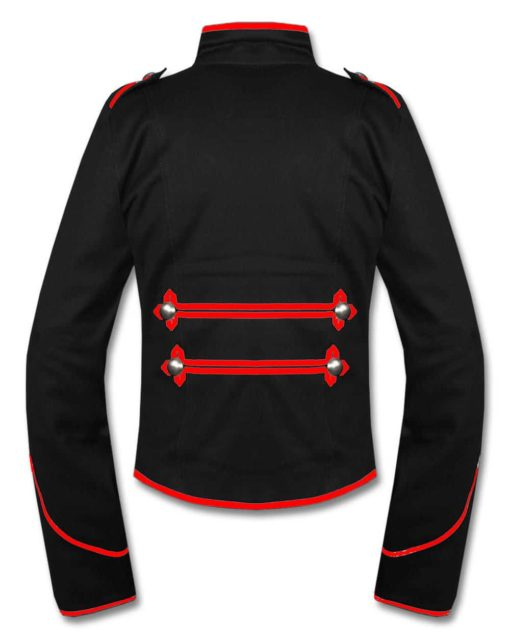 Military Marching Band Drummer Jacket, Traditional Jackets, Jackets for Men, Best Traditional Jackets, Red Black Pattern Jackets