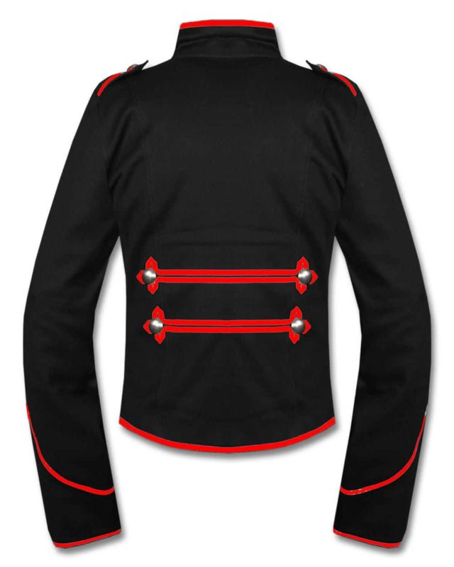 Military Marching Band Drummer Jacket, Traditional Jackets, Jackets for Men, Best Traditional Jackets, Red Black Pattern Jackets, Seampunk jacket for sale, buy steampunk jacket, gothic jacket for sale, buy gothic jacket, goth jacket for sale, buy goth jacket, military jackets for men, military jackets for sale, buy military jackets