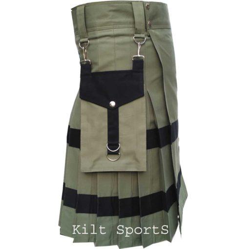 Utility kilt, cotton kilts, kilt for men