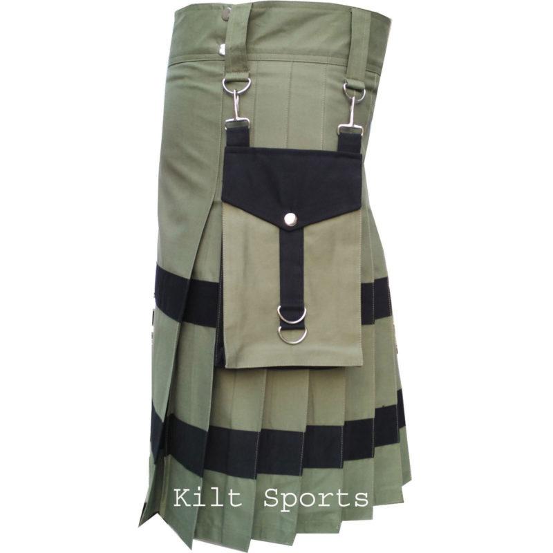 olive green kilt, olive green utility kilt, olive green kilt, Utility kilt for sale, Utility kilt