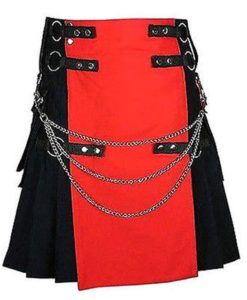 Red and Black Kilt, Utility Kilts, Deluxe Kilts, Fashion Kilts