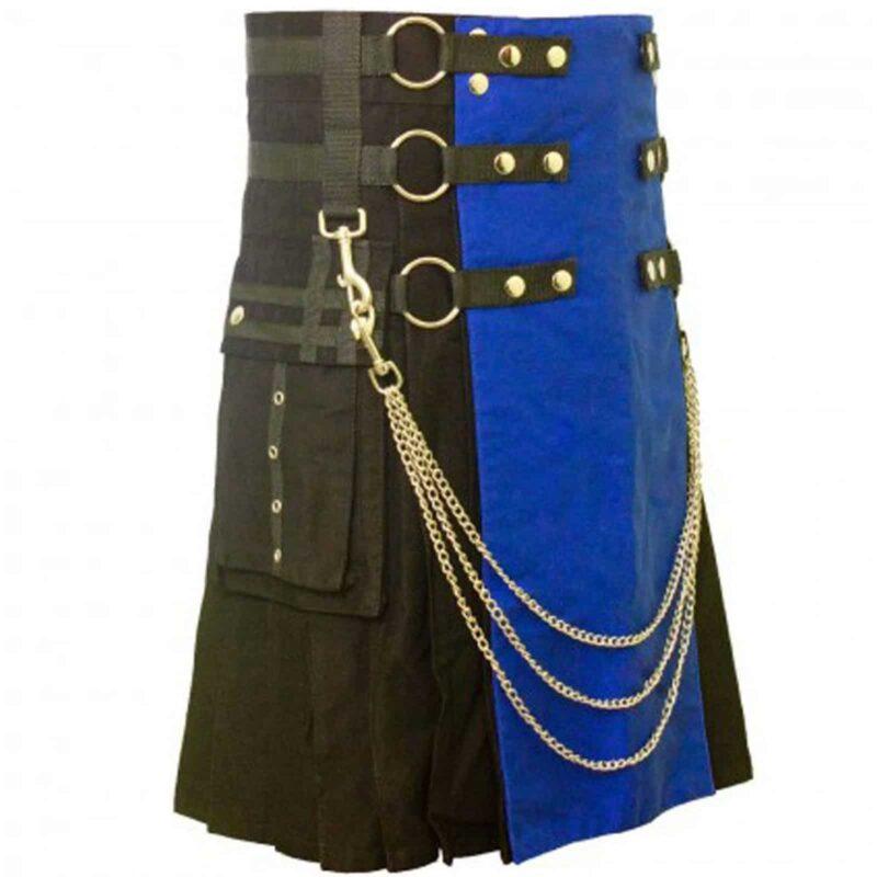 Utility kilt, cotton kilts, kilt for men, gothic kilt, hybrid kilt, two toned kilt