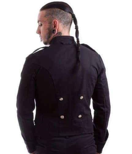 Handmade Black Military Jacket, Goth Punk Jacket, Best Traditional Jackets for Men, Best Jackets
