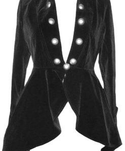 Velvet Gothic Victorian Lady Vampire, Women Jackets, Traditional Women Jackets