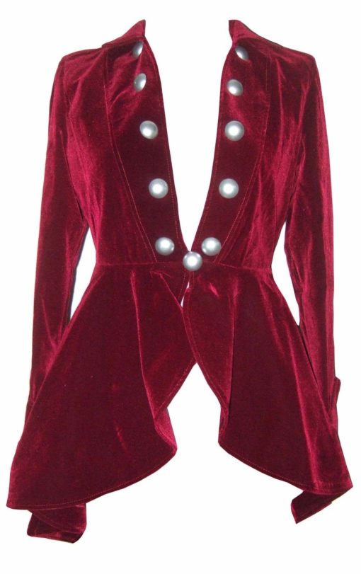 Velvet Gothic Victorian Lady Vampire, Women Jackets, Traditional Women Jackets