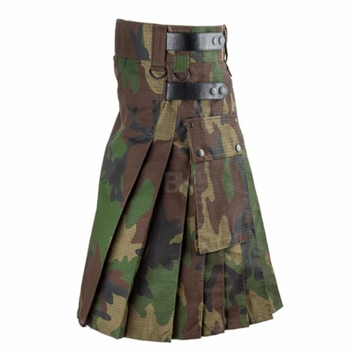 Leather Strap Camo, Camo Kilts, Best Kilts for Men, Camo Kilts Men