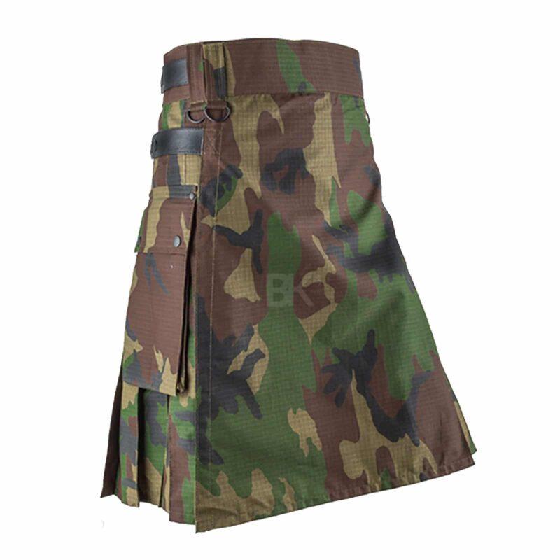 woodland kilt, camo kilt, woodland camouflage kilt, kilt for men, Woodland camouflage kilt, camo kilt for sale