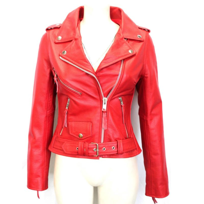 Biker jackets, Brando Red Biker Rock Gothic, Leather Jackets, Gothic Jackets for Women, women leather jacket, women leather jacket for sale, leather for sale for women, custom leather jacket