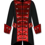 black-red-velvet-trim-steampunk-vampire-goth-jacket-pirate-coat-front