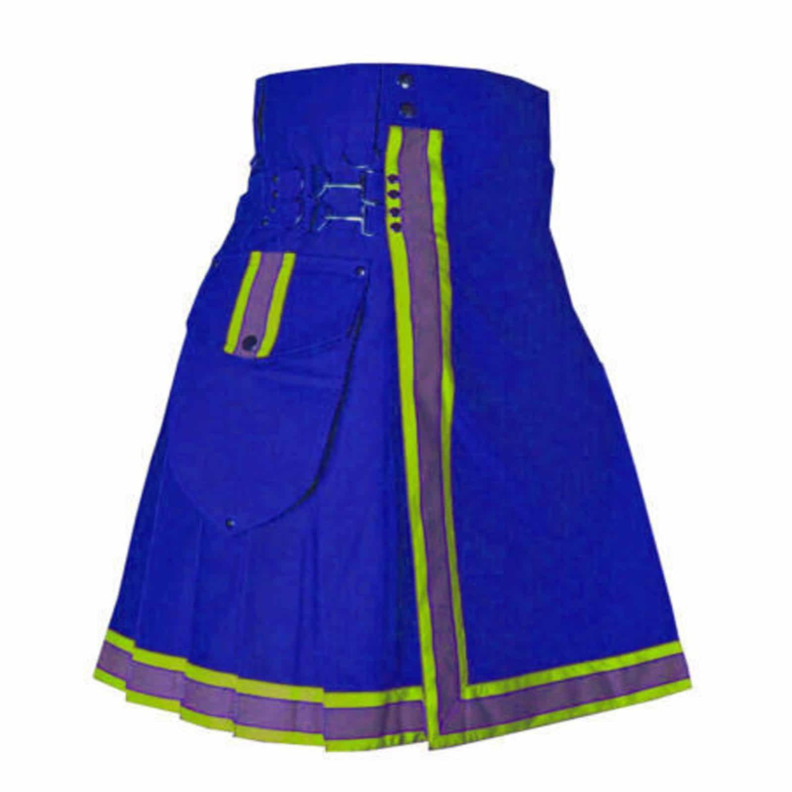 Blue Cargo Fashion Kilt, Fashion Kilt, Women Utility Kilts, Best Women Kilts