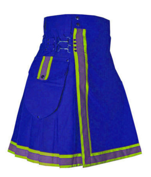 Blue Cargo Fashion Kilt, Fashion Kilt, Women Utility Kilts, Best Women Kilts