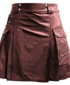 Leather Utility Kilt Cargo Pockets, Leather kilts, utility kilts, best kilts