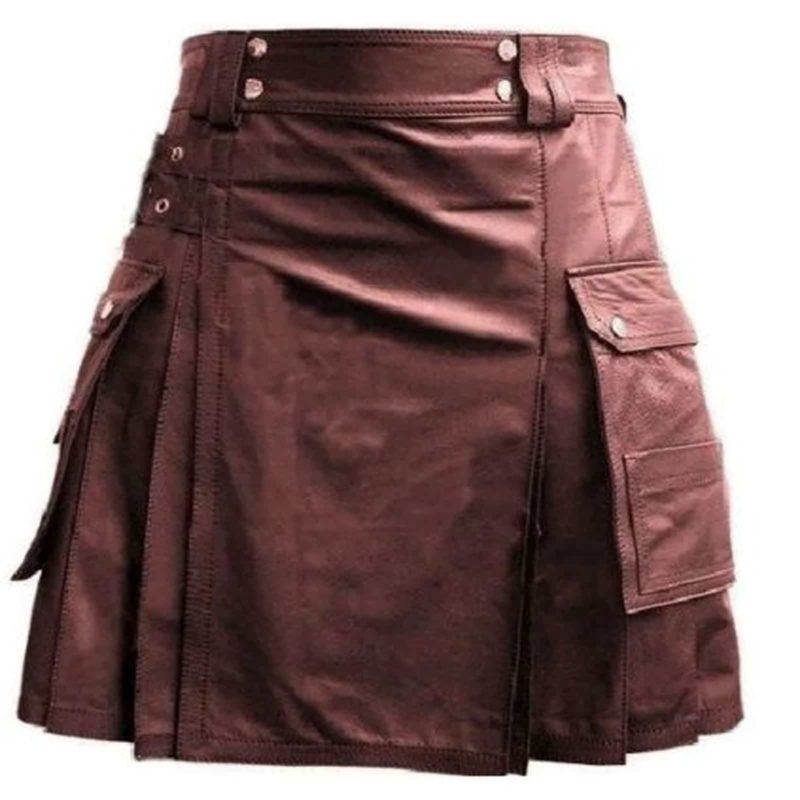 Leather kilt, Leather Utility Kilt, Leather Kilt, Genuine leather kilt. Leather kilts for sale