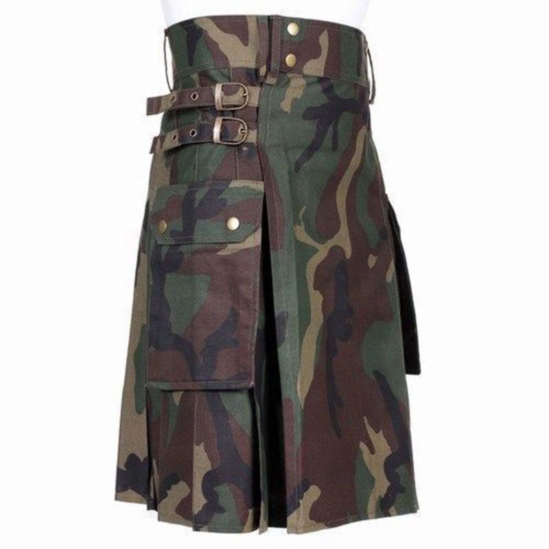 camo kilt, camouflage kilt, Woodland kilt, camouflage kilt, dark camouflage kilt, Goth camo kilt, Camo kilts for Goth