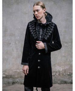 Akacia Mens Jacket Frock Coat, Black Velvet Jackets for Men, Mens Jacket, Gothic Clothing