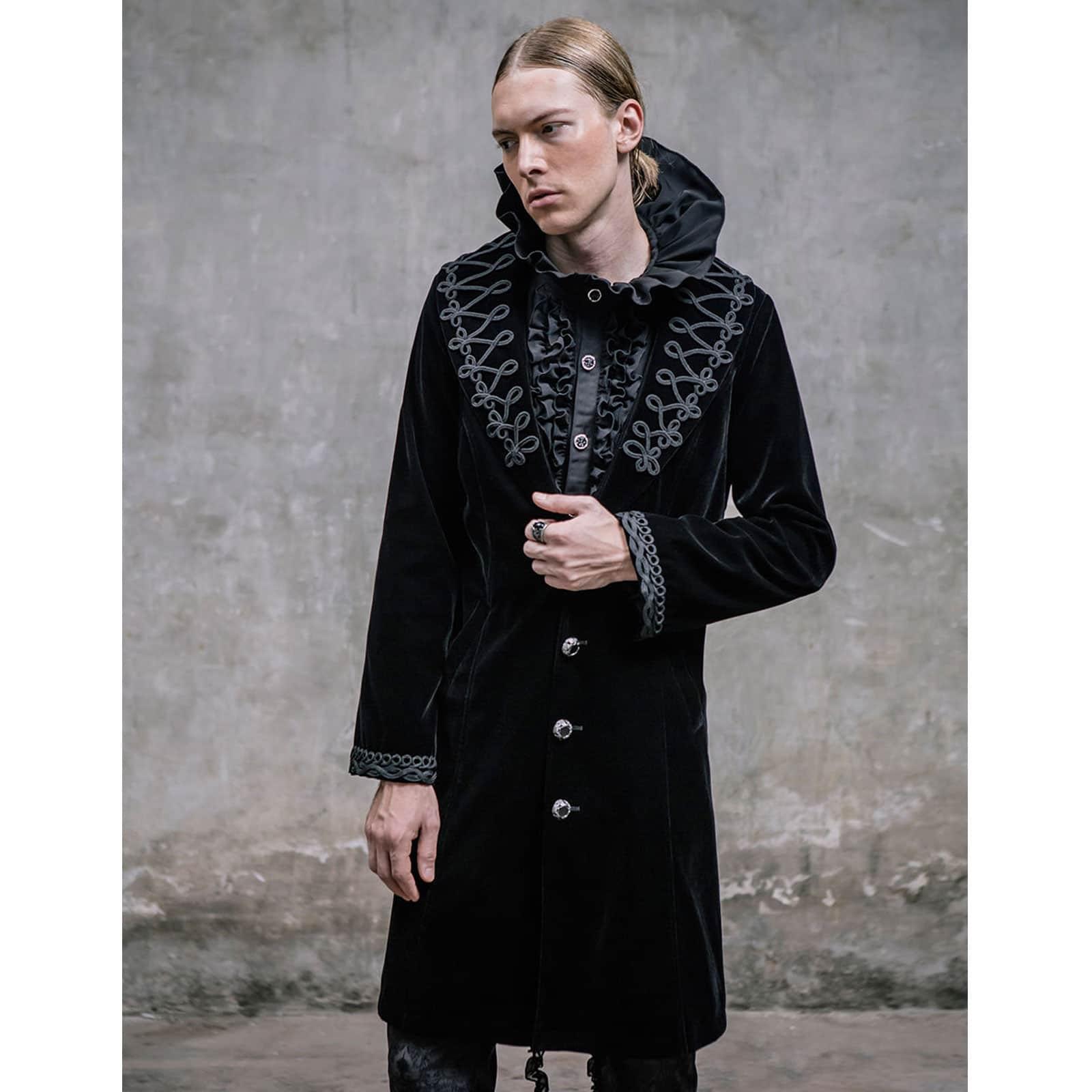71359474c Akacia Mens Jacket Frock Coat, Black Velvet Jackets for Men, Mens Jacket,  Gothic