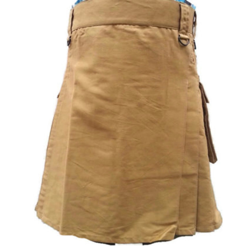 Khaki kilt, Khaki utility kilt, Khaki kilt by Kilt and Jacks, Khaki design, Khaki kilt for men, Kilt for men