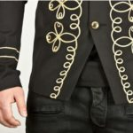 gold-flower-embroidery-black-military-napoleon-hook-jacket-close